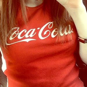 Coca Cola tank top crop top